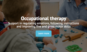 Occupational Therapy Learn More tab
