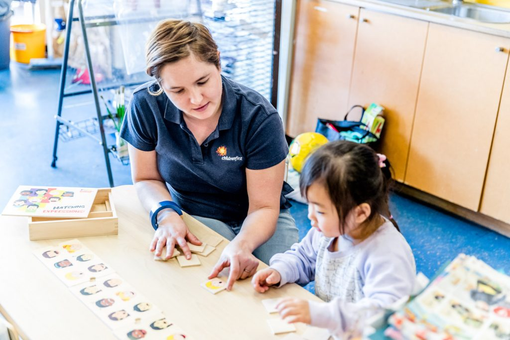 Speech and language therapists at Growing Early Minds in Acacia Gardens, Sydney